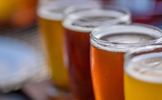 4oz Beer Glasses on Flight Paddle